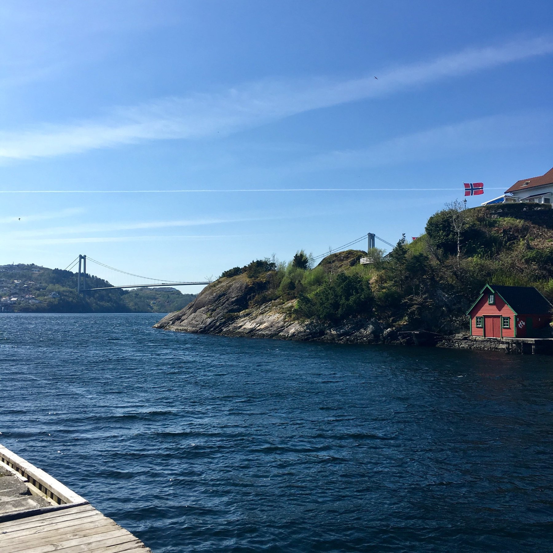 Ocean view with the Askøy bridge in the background