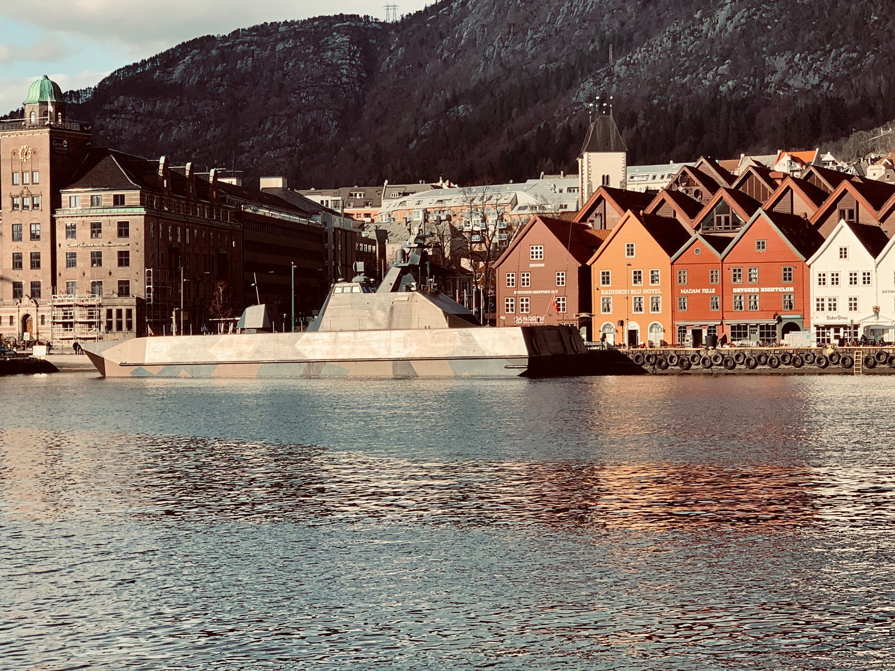 The marine vessel Storm at Bergen harbour