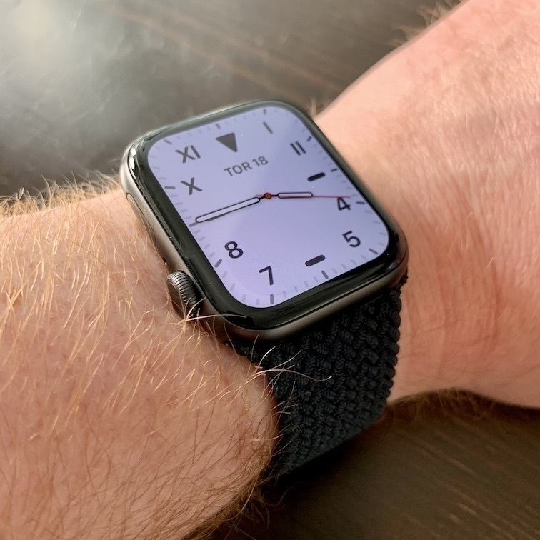Apple Watch with Braided Solo Loop band