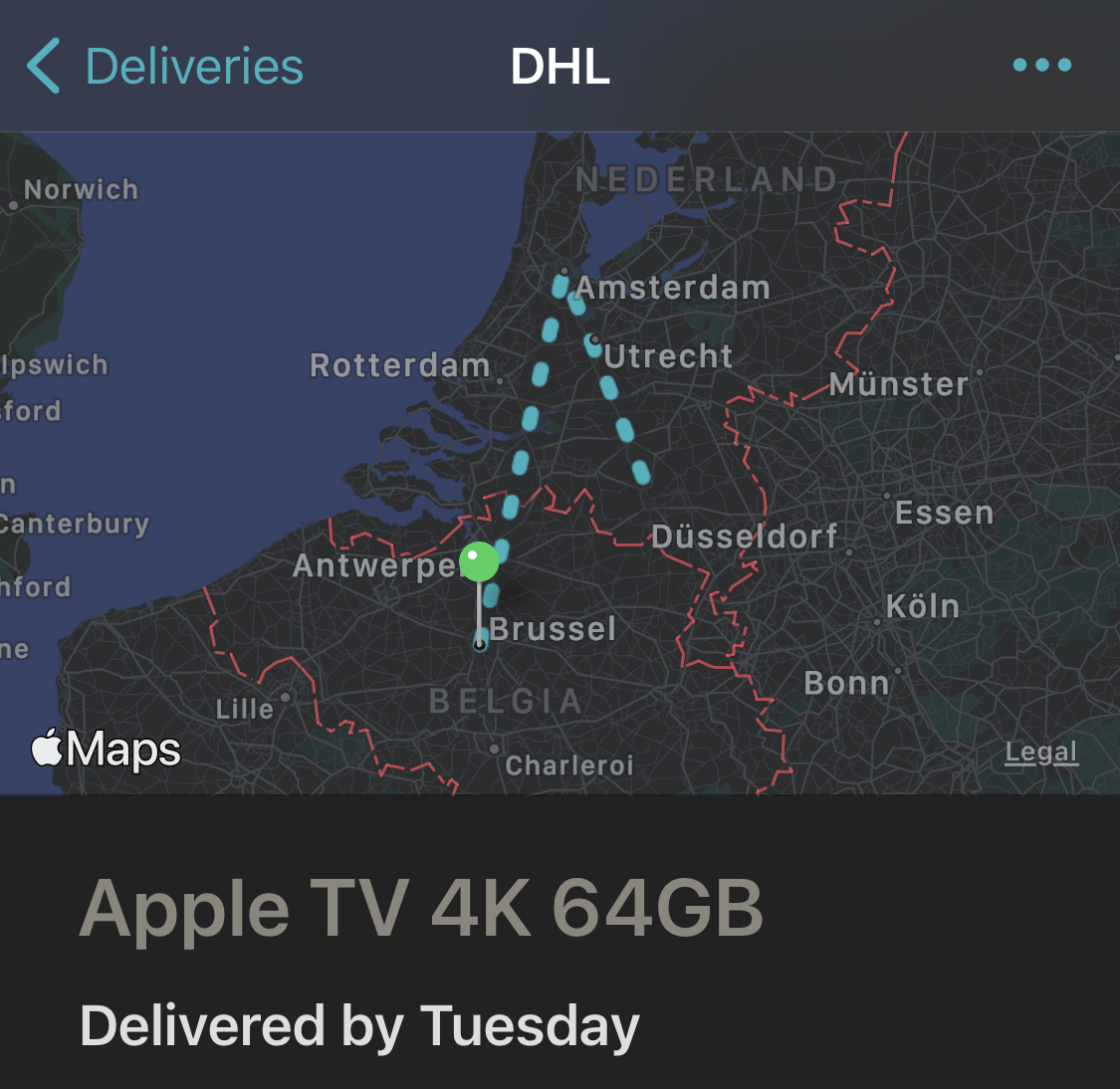 Apple TV 4k 2021 delivered by Tuesday